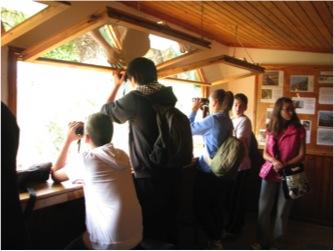 Η ομάδα υιοθεσίας του Ιάσμου στο παρατηρητήριο του Δάσους της Δαδιάς