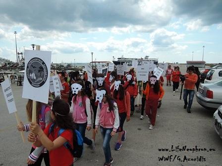 Εικόνα 1. Η πορεία στην Αλεξανδρούπολη ξεκινάει από το λιμάνι της πόλης